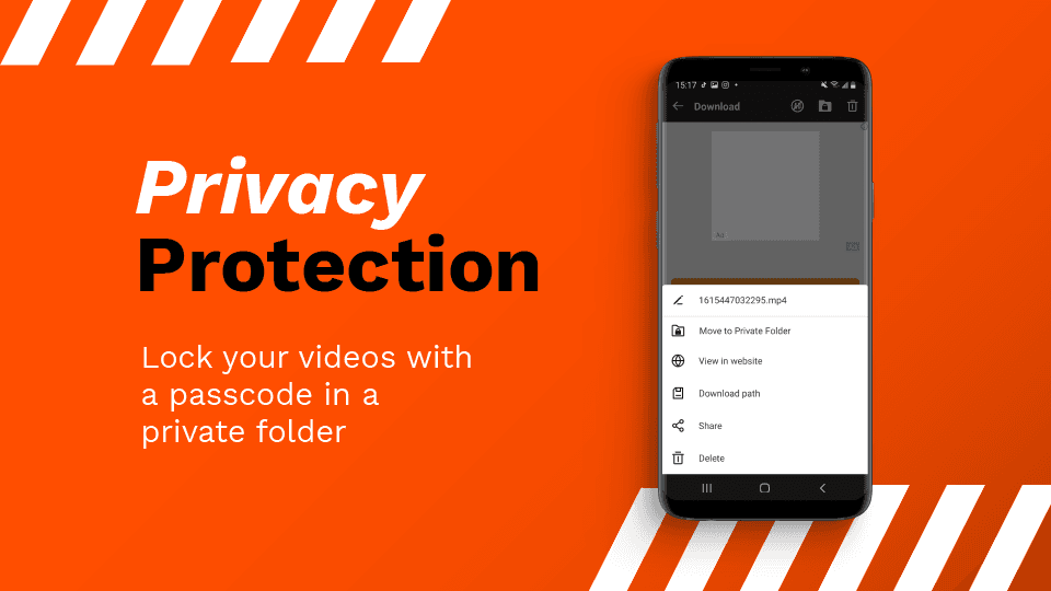 AhaSave All Video Downloader Privacy Protection