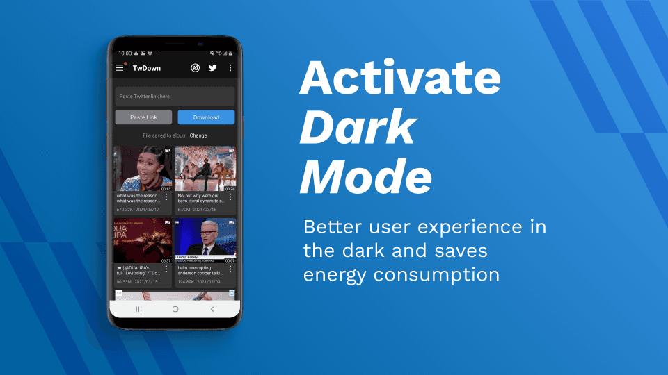 AhaSave Twitter Downloader Dark Mode