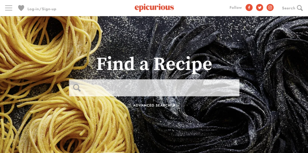 cooking recipes online download epicurious