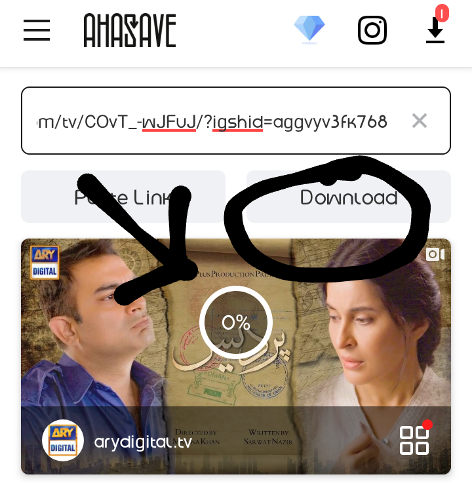 ahasave download IGTV step by step guide